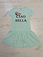 Платье трикотажное для девочек оптом, Glo-story, 134-164 рр., арт. GYQ-5904, фото 4