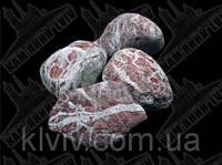 """Галька мраморная """"Рубиновый Остров"""" KLVIV, фр. 4-8 см. 10 кг, фото 1"""