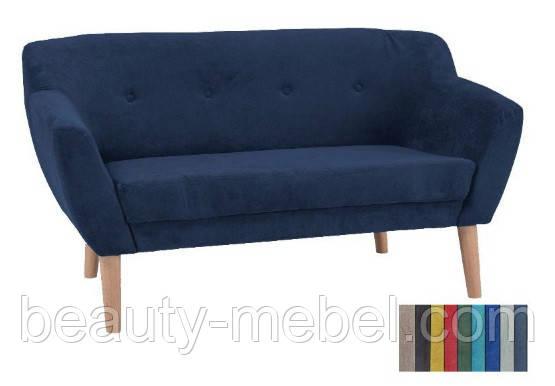 Мягкий диван Signal Bergen 2, темно-синий