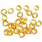 Кільця 4 мм Одинарні Сполучні Колір: Золото Світле, Фурнітура для Біжутерії, для Прикрас, фото 4