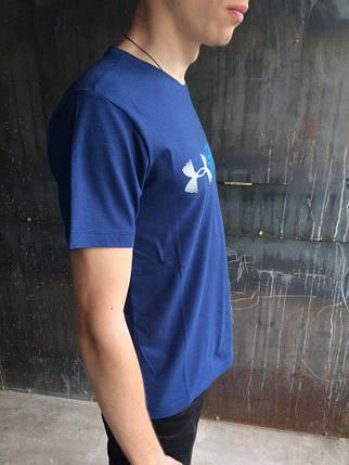 Мужская футболка Under Armour.Синяя , фото 2