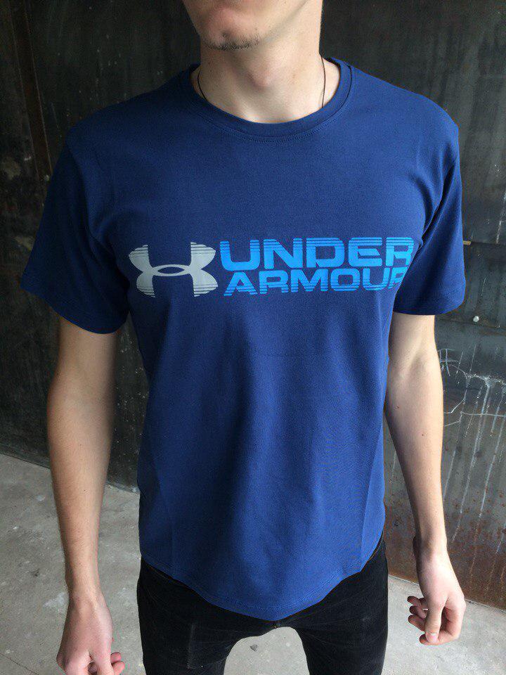 Мужская футболка Under Armour.Синяя