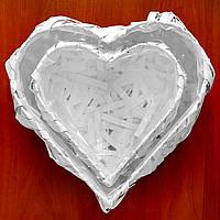 Корзина из лозы Сердце, набор  из 2 шт