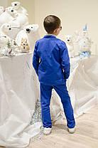 """Костюм """"Лен"""" брюки + пиджак на рост от 98 до 134 см, фото 3"""
