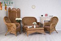 Комплект мебели CRUZO Виктория наутральный ротанг светло коричневый