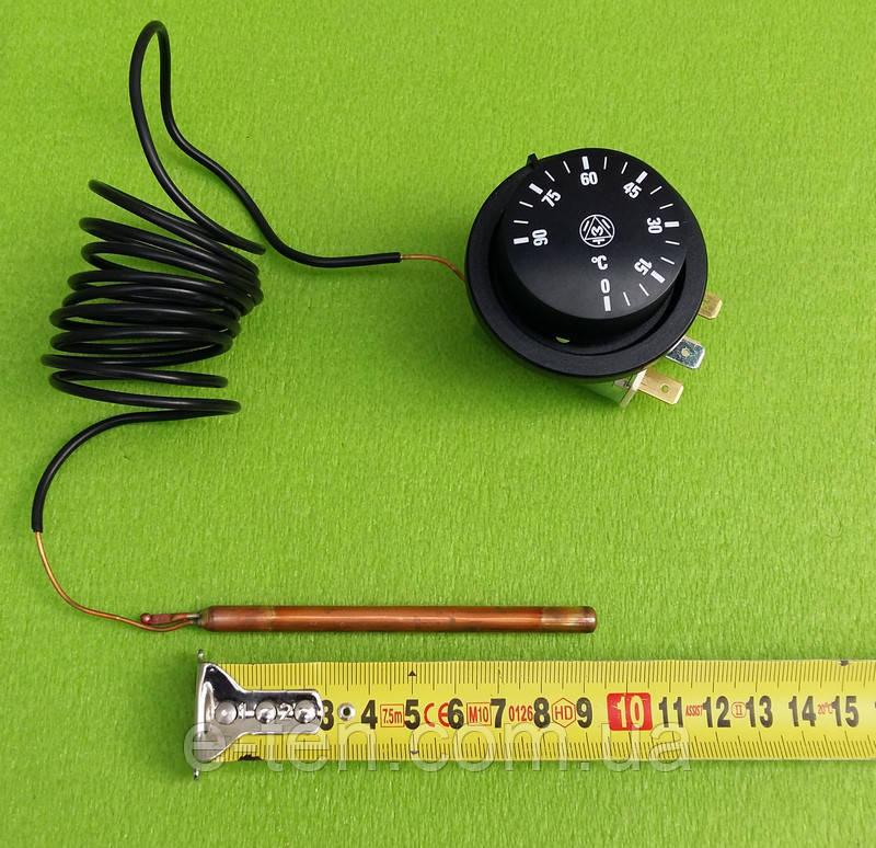 Капілярний Термостат IMIT type TR2 / Tmax = 90°C / 16А / 250V / L=160см (3 контакту) IMIT, Італія