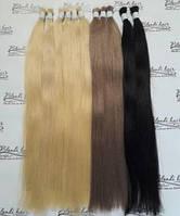 Натуральные волосы для наращивания 60-65см черный