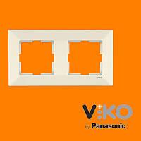 Двойная горизонтальная рамка VIKO Meridian Крем