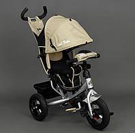 Велосипед 3х колесный Best Trike 6588. Поворотное сиденье, Игровая панель на руле. Бежевый