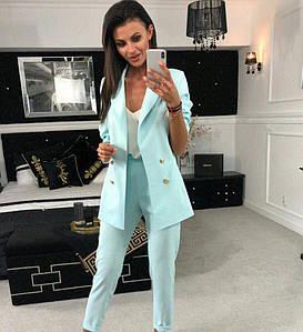 Женский брючный костюм с пиджаком на пуговицах 42-44 р