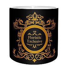 Коробка для цветов пластик без крышки 14 х 14 см черная