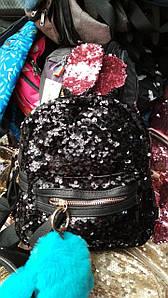 Рюкзак с ушками кролика расшитый пайетками