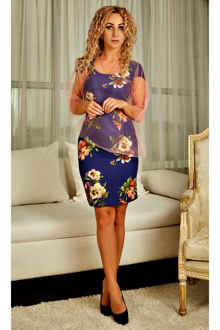 c801c8bd054 Женское платье с накидкой - Оптово-розничный интернет-магазин Fashion Way