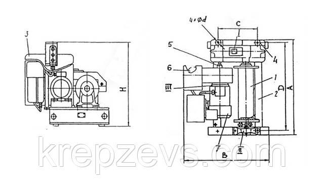 Схема электрической лебедки ЛМ-0,25