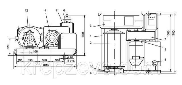 Схема тяговой лебедки ТЛ-7А-1