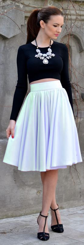 Расклешенная юбка женская