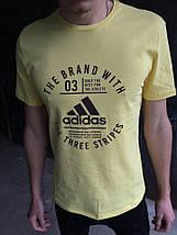 Мужская футболка Adidas.Желтая, фото 3