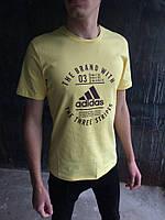 Мужская футболка Adidas.Желтая