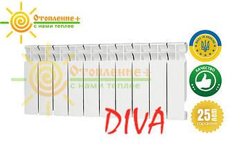 Биметаллический радиатор Diva 300х85 дива Одесса