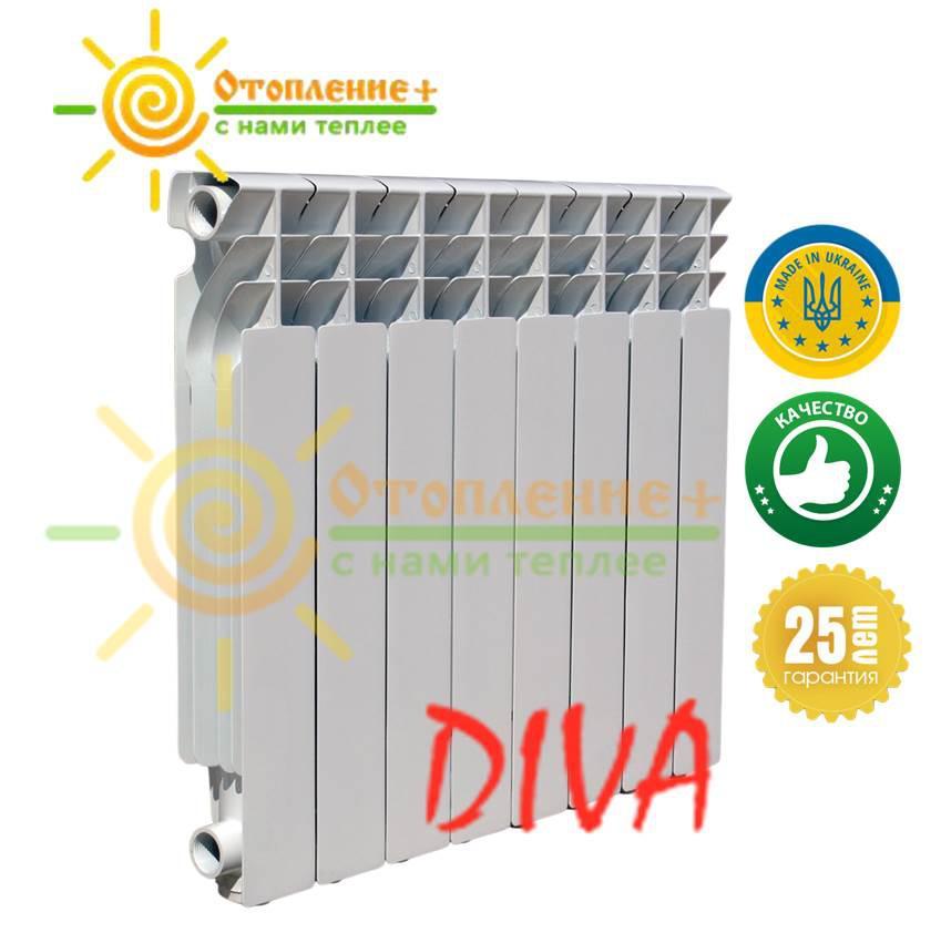 Биметаллический радиатор Diva 500х96 дива Одесса