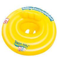 Плотик, детский, надувной, желтый, 69 см, в кор. 25*19см, Bestway (24шт)(32096)