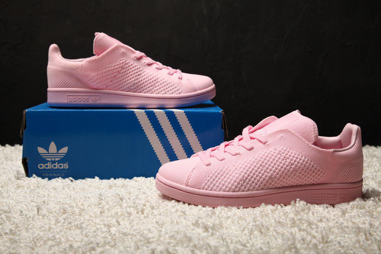huge discount 8547e b4d52 Женские кроссовки Adidas Stan Smith primeknit pink