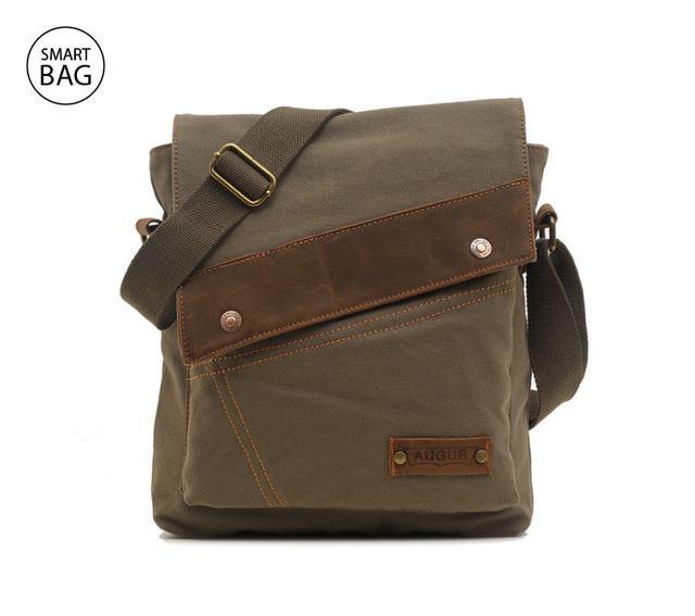 Брезентовая мужская сумка на плечо Augur | хаки