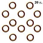 Колечки Одинарные Цвет: Бронза, Размер: 5 мм, Толщина 0.8 мм, 20 г./около 330 шт., фото 4