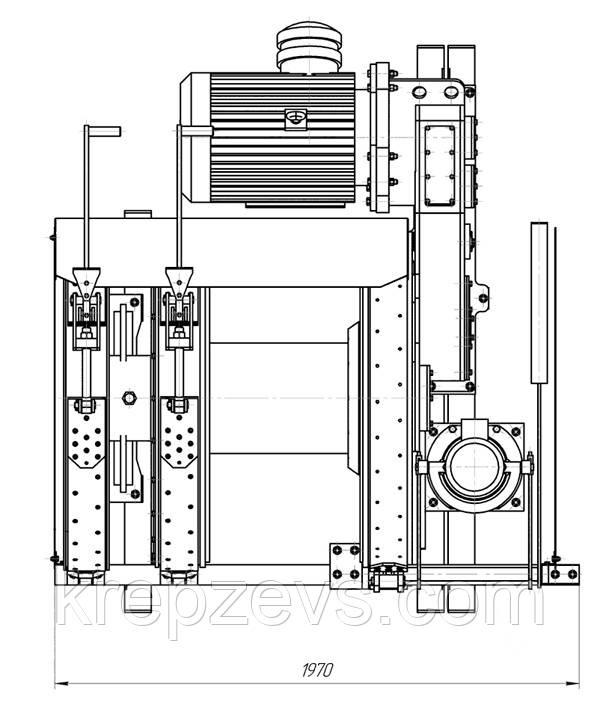 Схема лебедки ЛВ-45