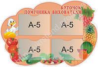 Стенд Куточок помічника вихователя (2206)