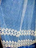Тюль белого и молочного цвета с вышивкой Оптом и на метраж Высота 2.8 м, фото 4