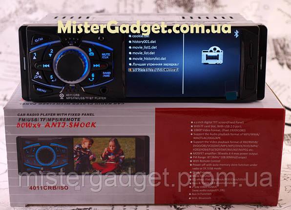 """Автомагнитола Pioneer 4011 CRB Дисплей 4,0"""" Bluetooth Два видео выхода Магнитола 4011 Пионер, фото 2"""
