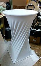 Стрейч чехол на стол 80*110 круглый из плотной ткани Спандекс, фото 2