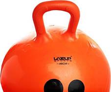 Детский фитбол с ручкой 45 см «LS-3220» HOPPING BALL, фото 2