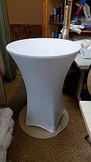 Стрейч чехол на стол 80*110 круглый из плотной ткани Спандекс, фото 3