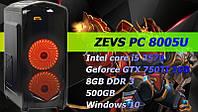 ИГРОВОЙ ПК ZEVS PC 8005U I5 3570 + GTX 750TI +КЛАВИАТУРА +МЫШКА!