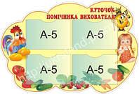 Стенд Куточок помічника вихователя (2206.3)