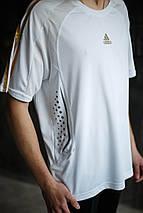 Мужская футболка Adidas.белая с серым , фото 2