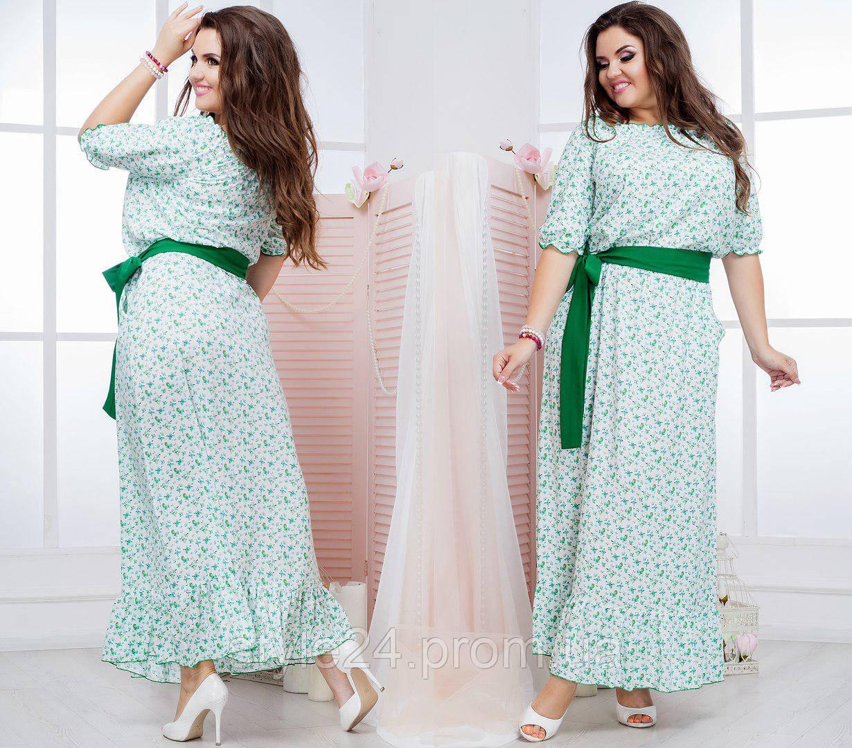 Літнє довге плаття з квітами великих розмірів (50-64) - Стильний одяг « cced237a2269f