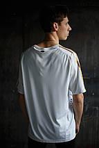 Мужская футболка Adidas.белая с серым , фото 3