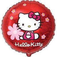 """Фольгированные шары с рисунком 18"""" hello kitty цветы FlexMetal"""