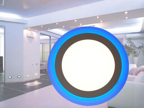 Светодиодный встраиваемый светильник c подсветкой 12W+4W 4100K KWANT