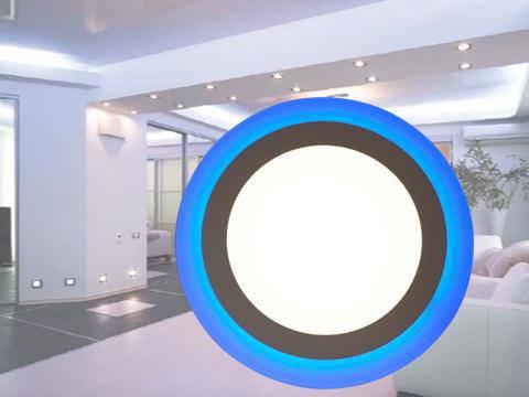 Светодиодный встраиваемый светильник c подсветкой 12W+4W 4100K KWANT, фото 2