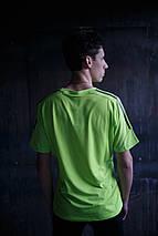 Мужская футболка Adidas Clima Cool.Салатовая, фото 3