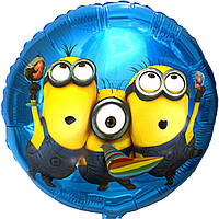 """Фольгированные шары с рисунком 18"""" Миньоны на вечеринке FlexMetal"""