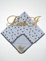 """Летнее детское одеяло """"Star"""" на выписку для новорожденных (белый), фото 1"""