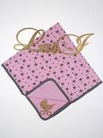 """Летнее детское одеяло """"Star"""" на выписку для новорожденных (розовый), фото 1"""