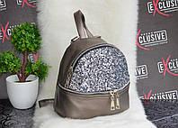 Стильный рюкзак в паетках (глитер)., фото 1