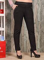 Женские брюки со стразиками на карманах Jujube B035-3 4XL-6XL. Размер 54-58.