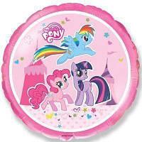"""Фольгированные шары с рисунком 18"""" Маленькие пони в цирке FlexMetal"""